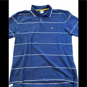 Brooks Brothers knit performance polo blue L